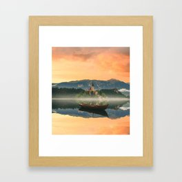 Golden Getaway Framed Art Print