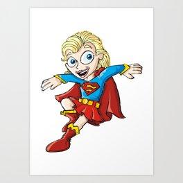 Supergirl! Art Print