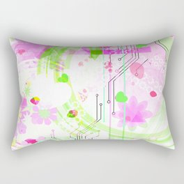 Digital Melon Rectangular Pillow