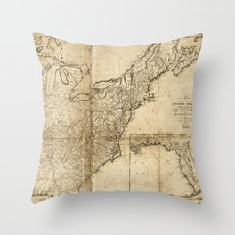 Map of the United States (1809) Throw Pillow