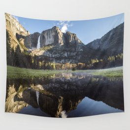 Sunrise over Yosemite Falls Wall Tapestry