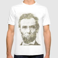 Abraham Lincoln Mens Fitted Tee White LARGE