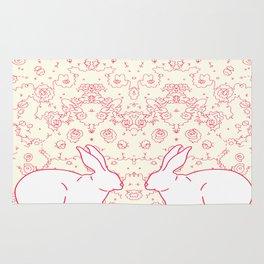 Two Rabbits Collaboration Rug