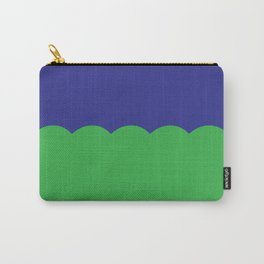 Scalloped - Kelly Green & Navy Carry-All Pouch