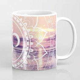 Om Water Mandala Lavender Mauve Coffee Mug