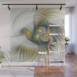 Noble And Golden, Abstract Modern Fractal Art Wall Mural