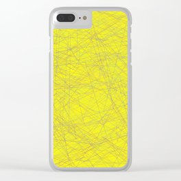 Yallow design Clear iPhone Case
