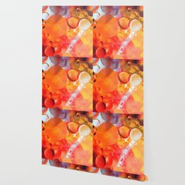Bubbles in orange background Wallpaper