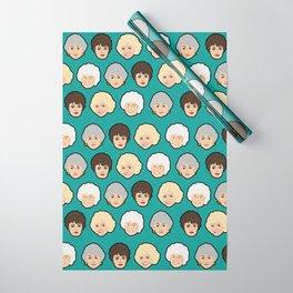 Golden Girls Green Pop Art Wrapping Paper