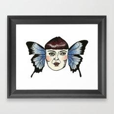 butterfly lady. Framed Art Print