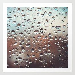 Wet Glass Art Print