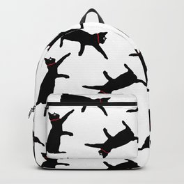 Cats-Black on White Backpack
