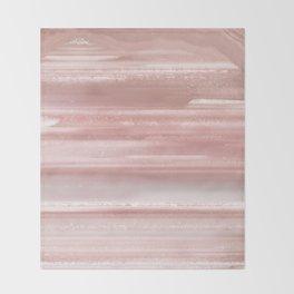 Geode Crystal Rose Gold Pink Throw Blanket