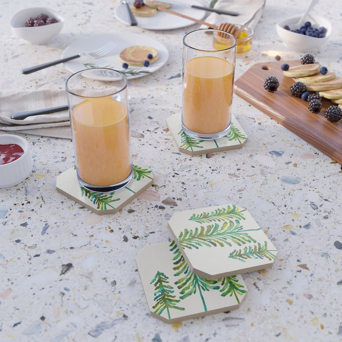 Pine Trees – Green Palette Coaster