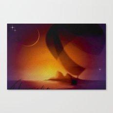 Abendausfahrt. Canvas Print