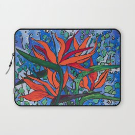 Birds of Paradise in Blue After Matisse Laptop Sleeve