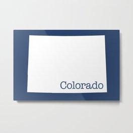 Colorado State in 2020 Navy blue Metal Print
