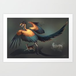 Volverna-Dragon Art Print