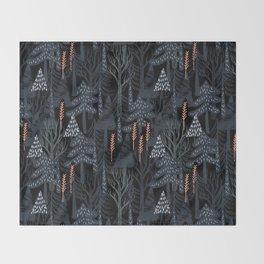 fairytale forest pattern Throw Blanket