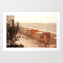 Getty Museum - Table with a view Art Print