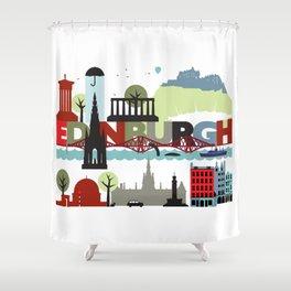 Edinburgh landmarks & monuments  Shower Curtain
