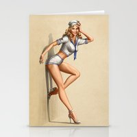 pin up Stationery Cards featuring Pin Up by Bärdie D/Sign