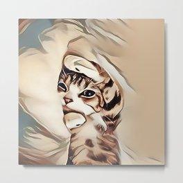 Mondays Kitten Metal Print
