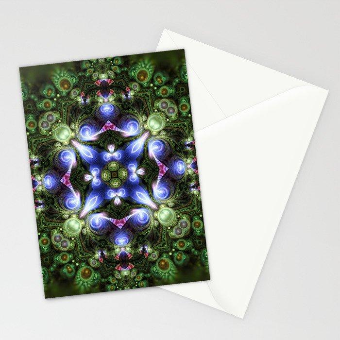 Fractal Forest Indigo Stationery Cards