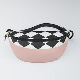 Checkered-Solid (Pink) Fanny Pack