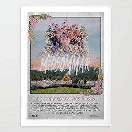 Midsommar Flower Art Print