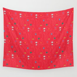 Red Bicycle Wall Tapestry