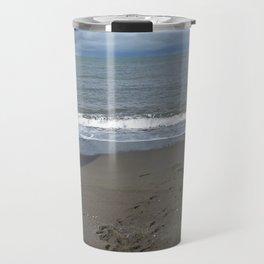 Footsteps in the sand Travel Mug