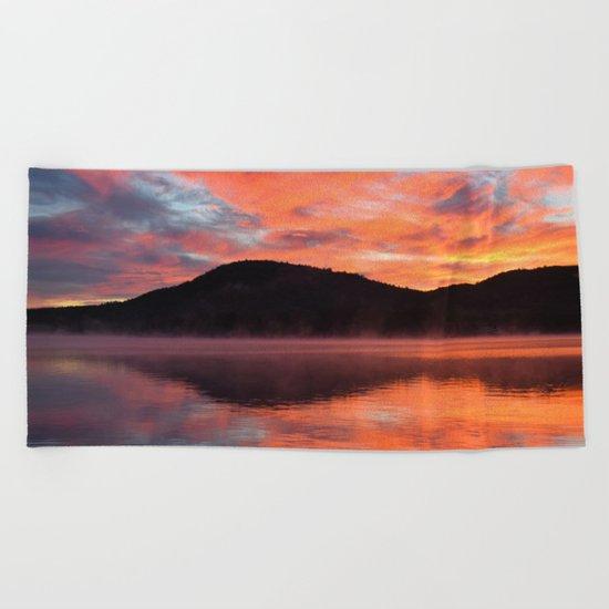 Sunrise Ripples Beach Towel