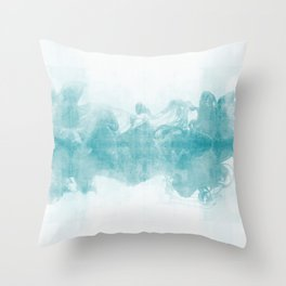 Ink Spot No. 1 | Turquoise Throw Pillow
