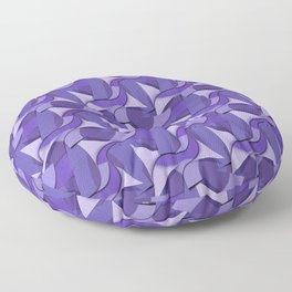 Ultra Violet Abstract Waves Floor Pillow