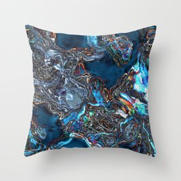 Abstract Waves of Color Throw Pillow