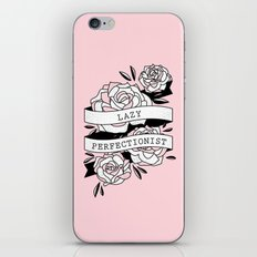 lazy perfectionist iPhone & iPod Skin