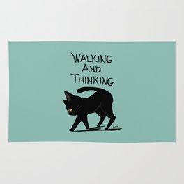 Walking and thinking Rug