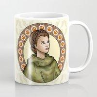 leia Mugs featuring Leia by Miguel Angel Carroza