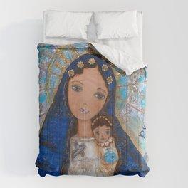 La Virgen de la Caridad del Cobre by Flor Larios Comforters