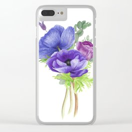 Bouquet of anemones Clear iPhone Case