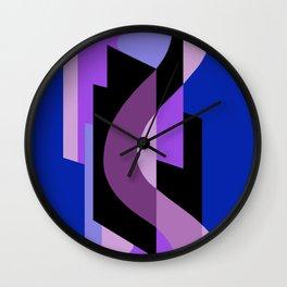 SUISSE - Art Deco Modern: BRIGHT MIDNIGHT Wall Clock