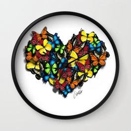 butterflies collection: you are love Wall Clock