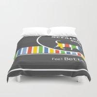 sofa Duvet Covers featuring Scratch Sofa Feel Better by Krokoneil