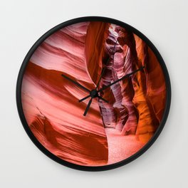 Deep Inside - Antelope Canyon in Desert Southwest Wall Clock