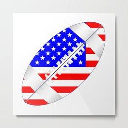 American Football Ball Flag Metal Print