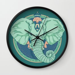 An Elephant Never Forgets Wall Clock
