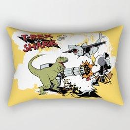 T-Rex VS Shark  Rectangular Pillow