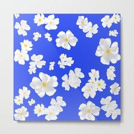 Boboli White Flowers Metal Print