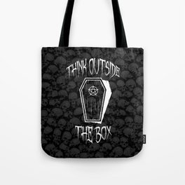 Think Outside The Box Goth Coffin Humour Tote Bag